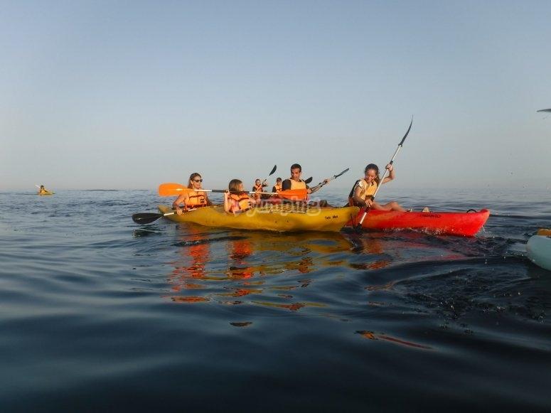 Salida en grupo kayak Peñón del Pineo
