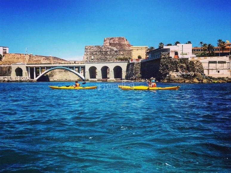 Ruta costera por Ceuta en Kayak
