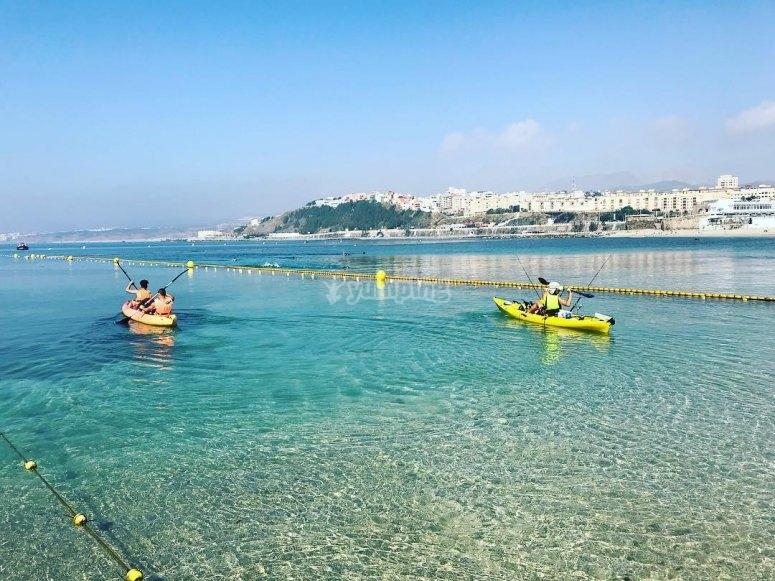 Tour en kayak biplaza en Ceuta