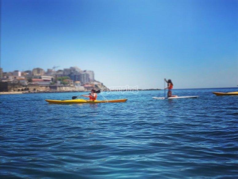 Paseos en kayak para familias Ceuta