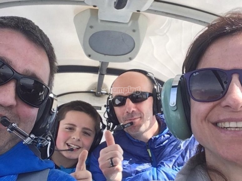 Family flight in Jaca