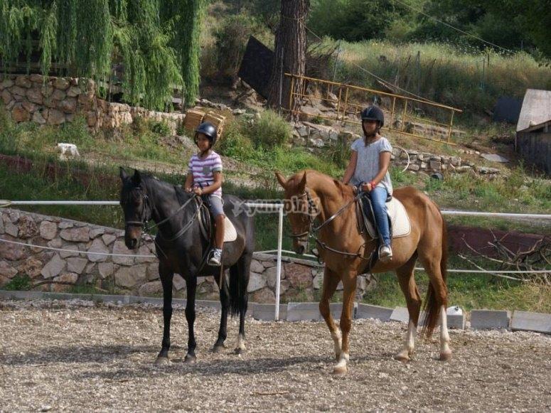 Montando a caballo en Albacete