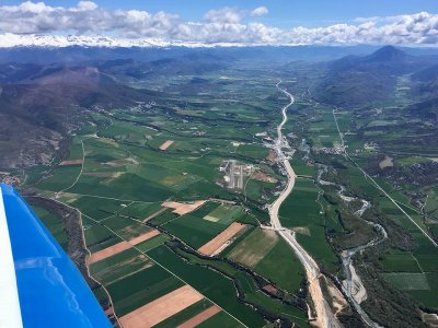 Light aircraft flight over Pyrenees 30 minutes