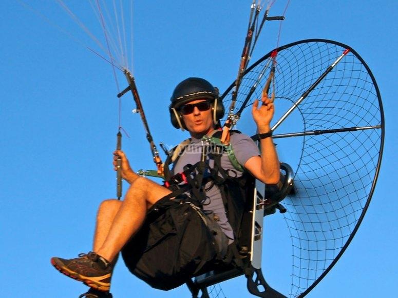 Professional paramotor instructor