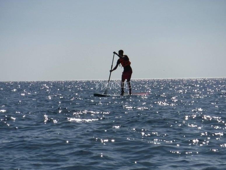 Paseo de paddle surf Monte Hacho