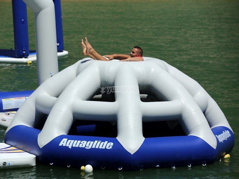 Aquatic inflatable in Almanzora caves