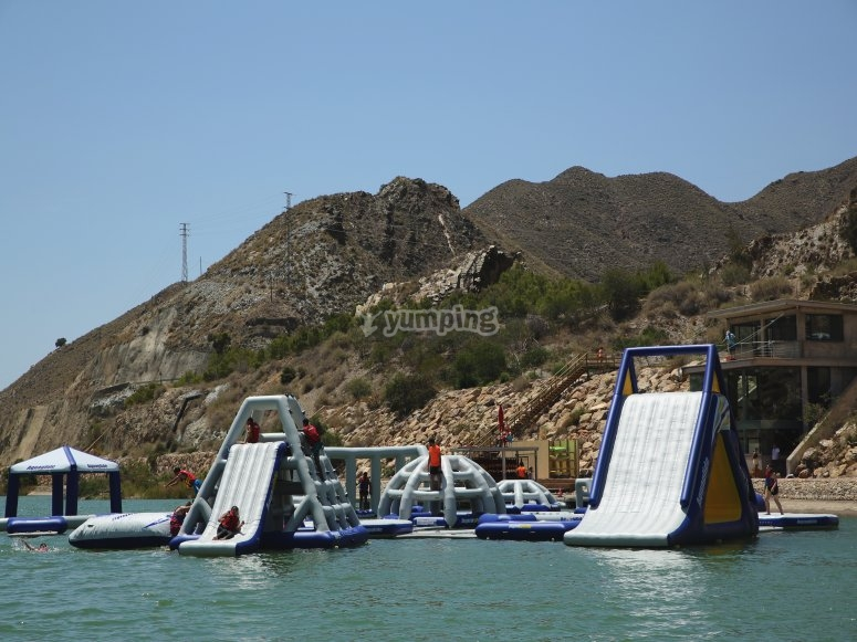 Aquatic obstacles circuit in Almería