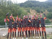 Ready for the practice of canyoning