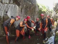 Getting ready for the canyoning