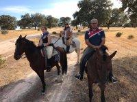 Arenas de San Pedro a caballo
