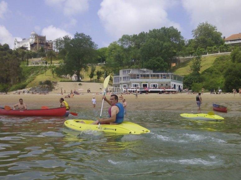 Kayaking in Santander