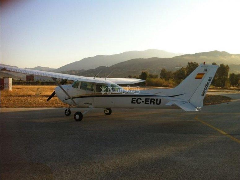 Volando en Jerez al amanecer