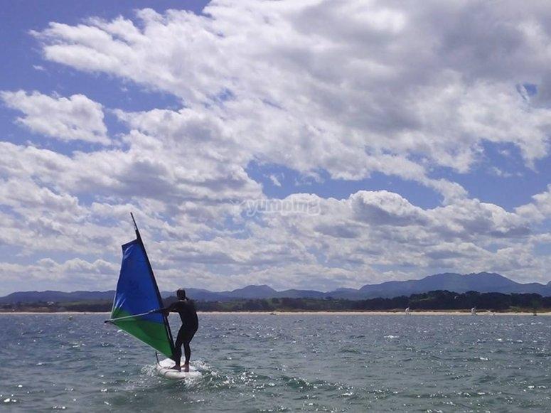 Windsurfing in Santander