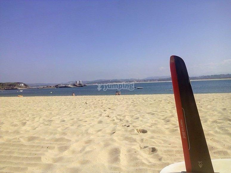 Vistas desde la playa