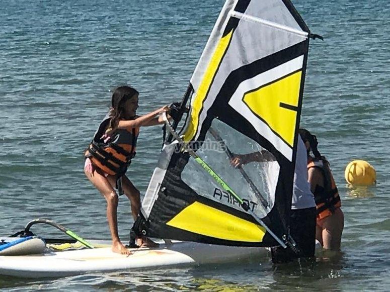 Windsurf nella scuola estiva