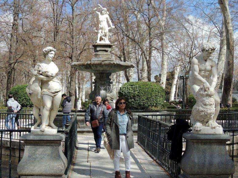 Jardines con esculturas Palacio Aranjuez