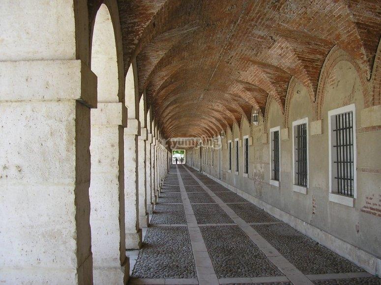 Estructura abovedada Palacio Aranjuez
