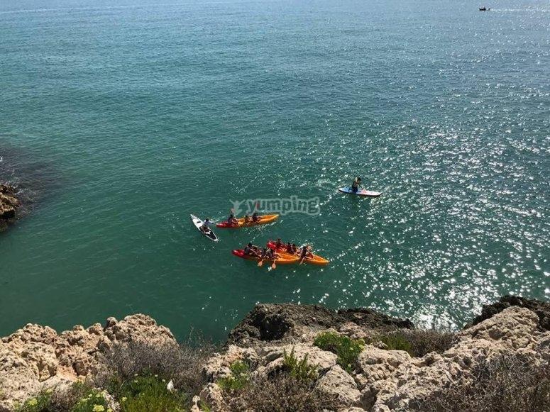 Pacchetti pack kayak e SUP Platja Cap Blanc