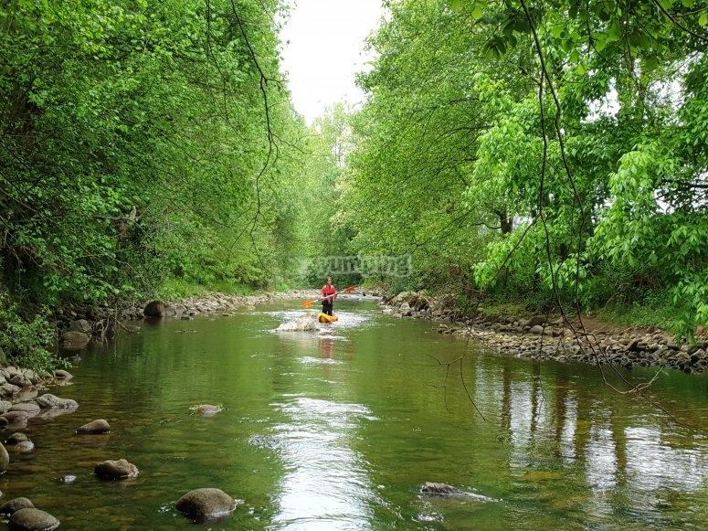 Discesa del fiume Miera con il partner