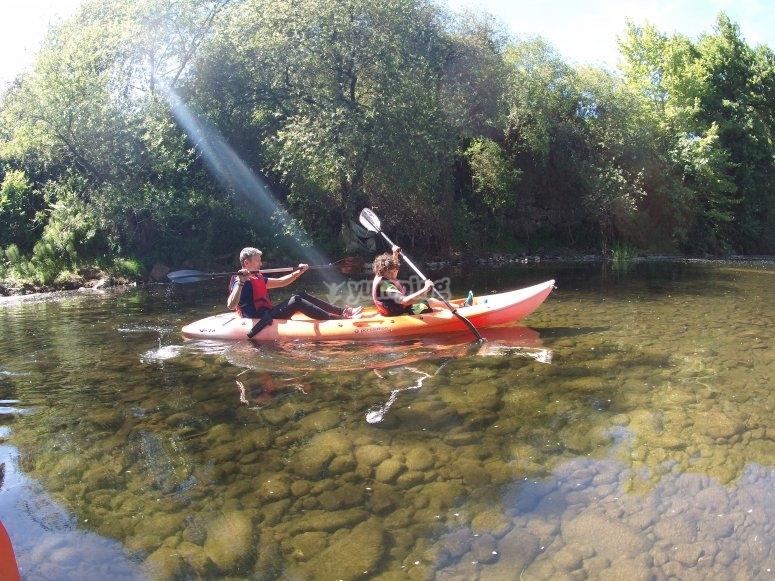 Canoa para 2 río Miera