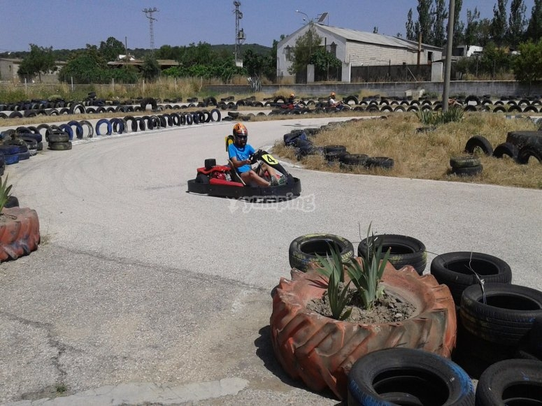 Kart volante in Alcalá