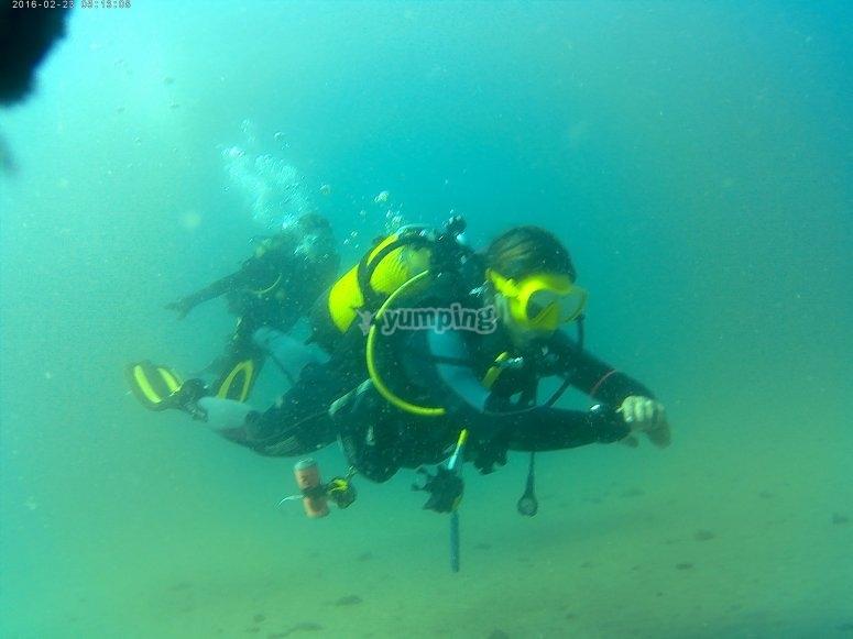 马拉加露天水域潜水课程