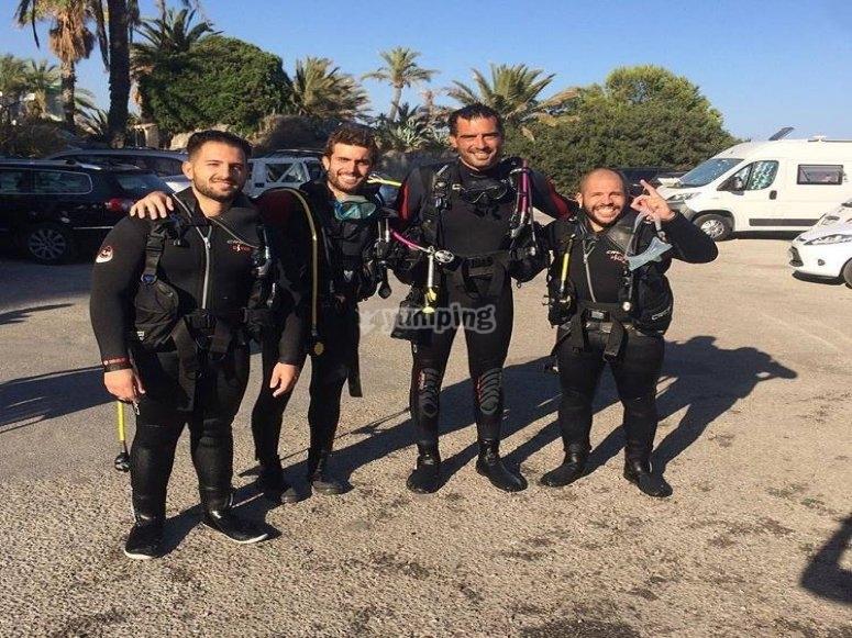 潜水设备齐全课程