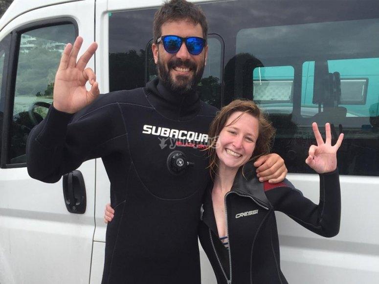 潜水教练和学生