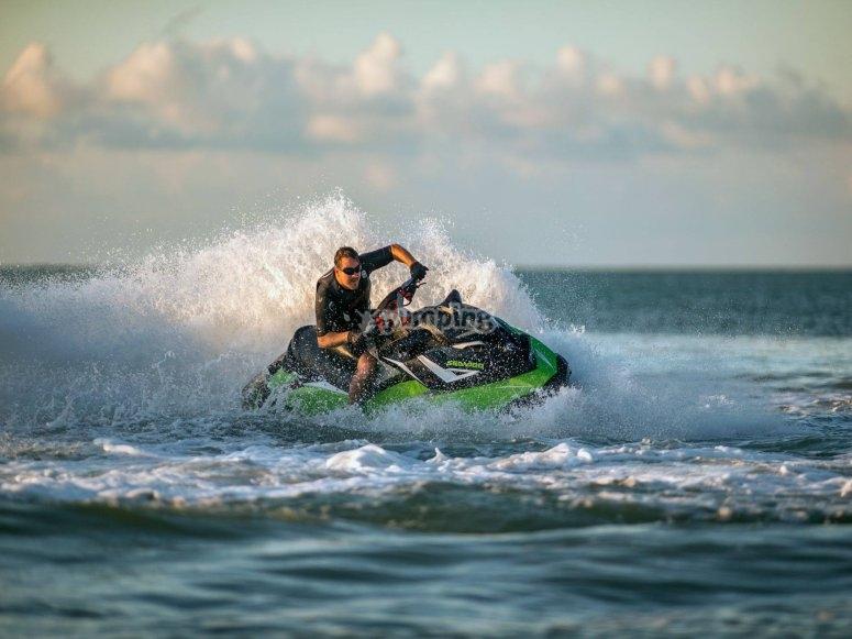 Salida en moto de agua biplaza Castellón