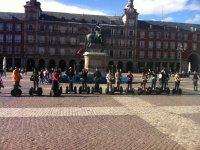 En la Plaza Mayor en segway