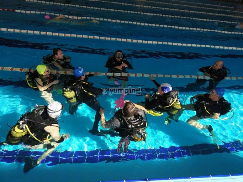 Prácticas en aguas confinadas Arona