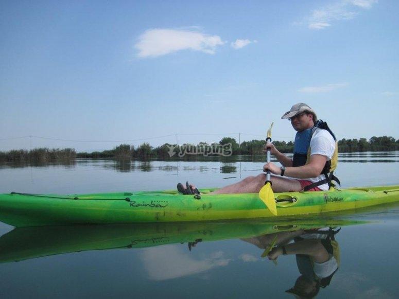 Kayak en el delta