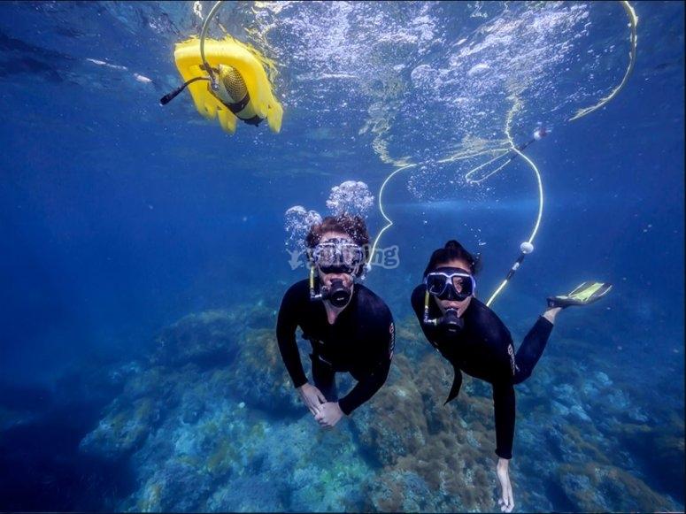 Buceando con el Peter Diving