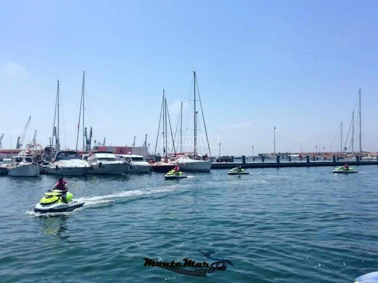 Paseo en moto de agua biplaza Costa de Azahar