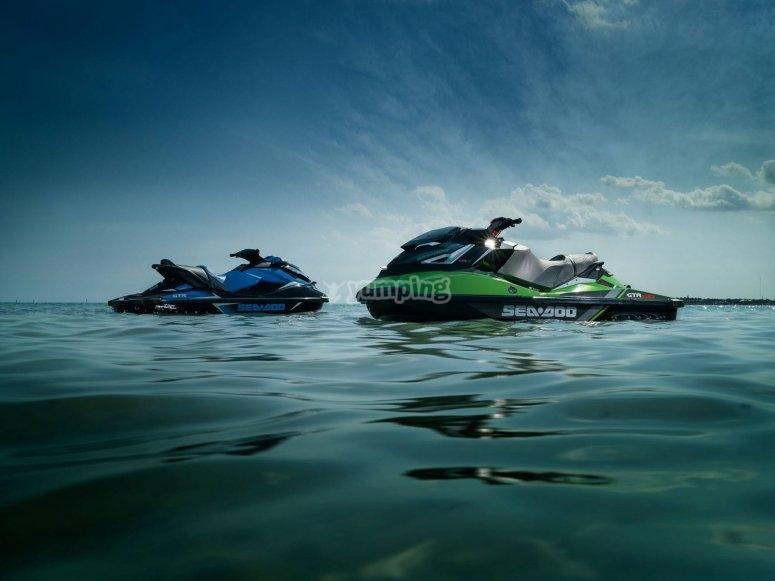 Ruta motos de agua biplaza Castellón