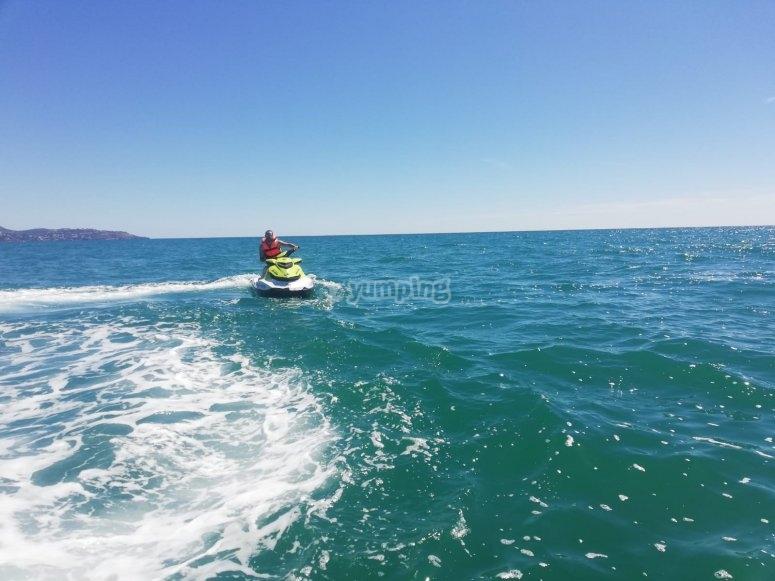 Costa del Azahar en moto de agua