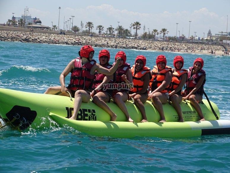 Banana boat en La Marina Valencia