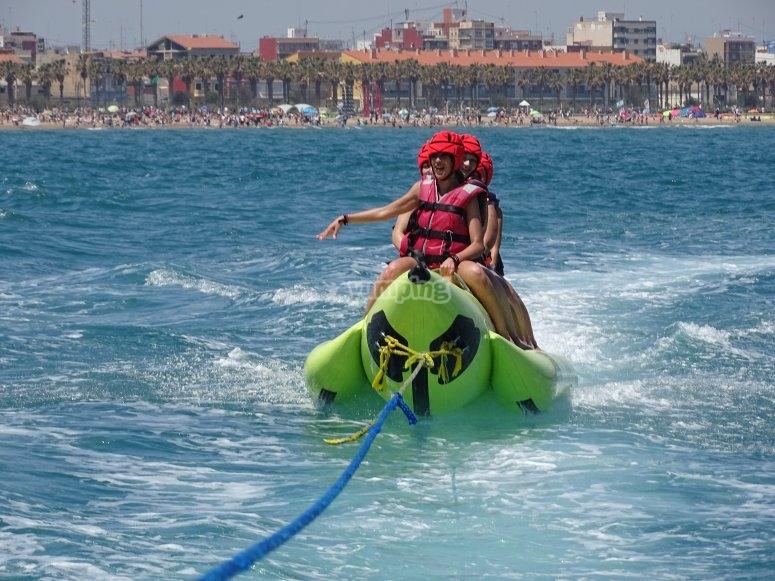 Banana boat para niños y adultos Valencia