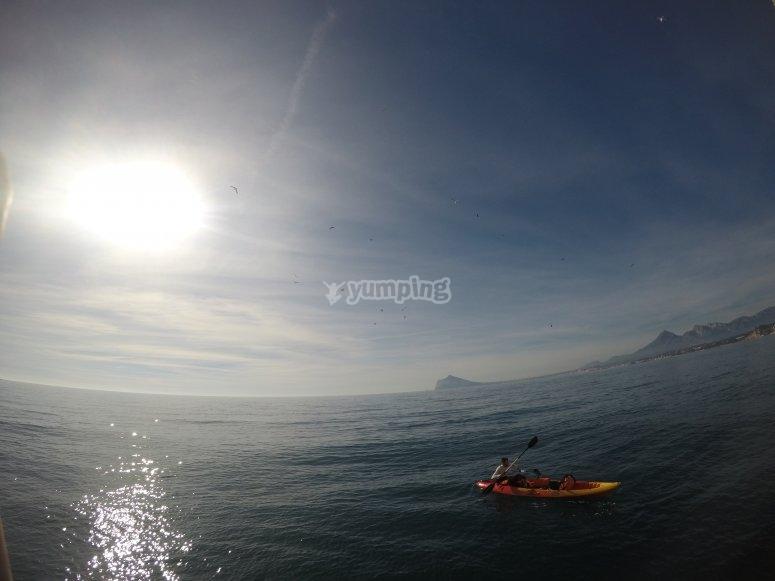 Aventura en kayak costa de Alicante