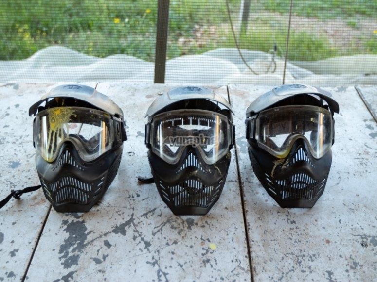 Máscaras y gafas de protección