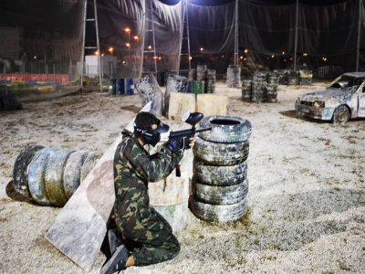 Paintball game in Orihuela 100 balls