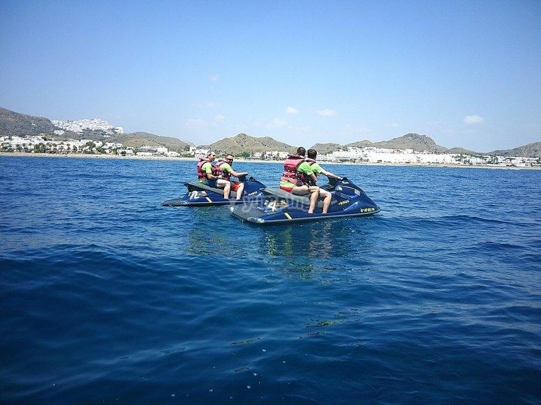 Paseo en moto de agua por el Mediterráneo