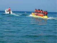 Salida en banana boat en La Garrucha