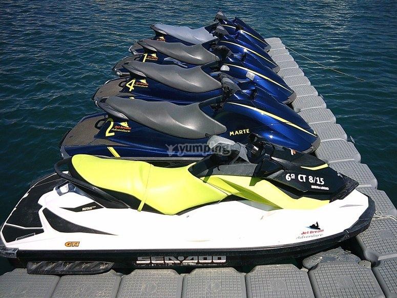 Flota de motos de agua Costa Garrucha