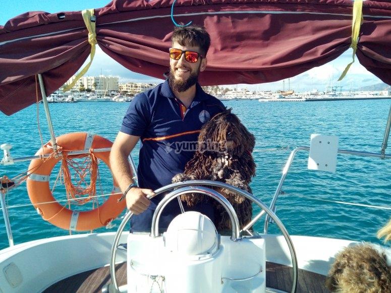Patrón de barco para las actividades