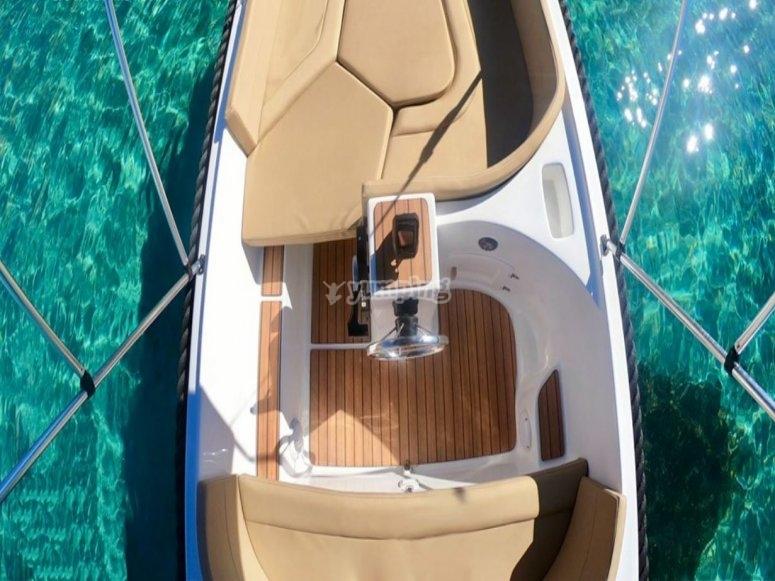 Alquiler barco Ibiza capacidad 5 personas