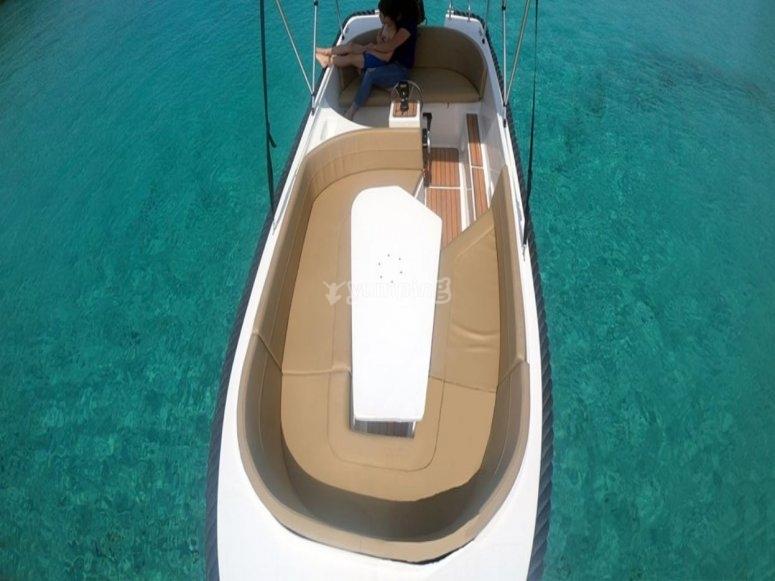 Alquiler de barco para familias Ibiza