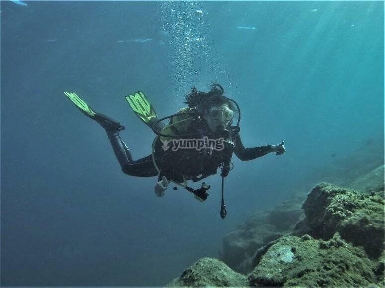 Bautismo de buceo en Gran Canaria
