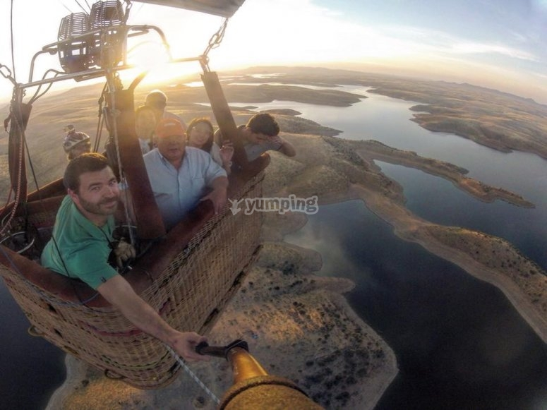 Paseo en globo en Extremadura