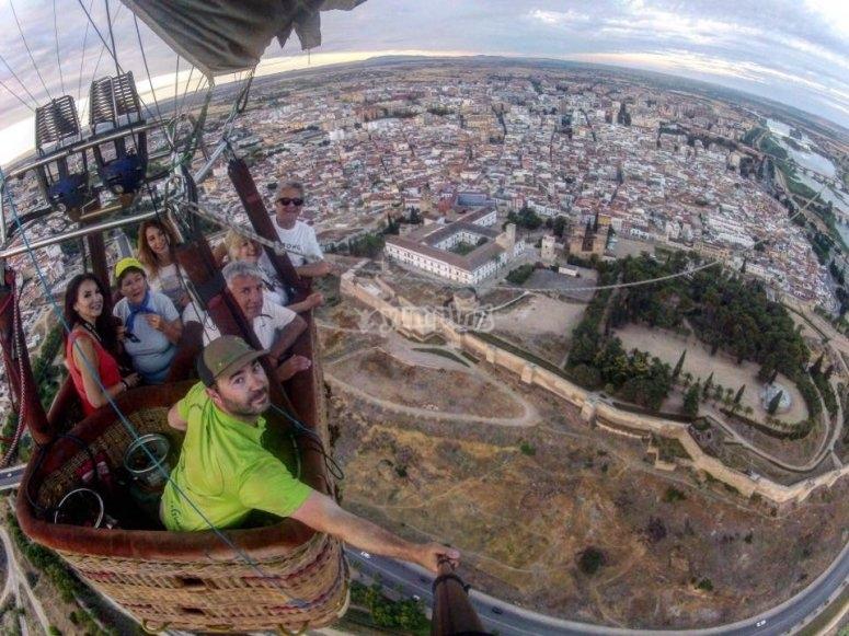 Vuelo en globo en Badajoz